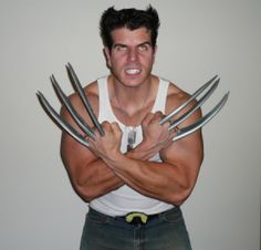 41 best costume ideas images on pinterest in 2018 halloween a homemade wolverine x men costume with yellow eyes and long metal claws solutioingenieria Image collections