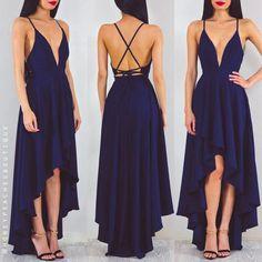 Simple design dark blue long prom dress,evening dress,formal dresses,cheap prom dresses