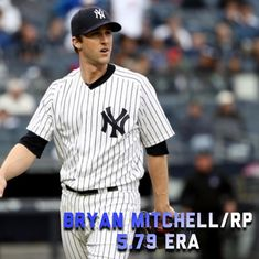 Bryan Mitchell is not good. Plain and simple. He was at the back end of the rotation and never seemed like he could control his pitches. In his 32.2 innings pitched he gave up 21 runs. My favorite being a big fat grand salami to Curtis granderson (how fitting). Mitchell came in a a game with a six run lead and had to be pulled. Nice. Mitchell is often a cookie dispenser giving up its from pitches right down the middle. He surrendered 42 hits. Yikes. At least he was able to secure one victory…