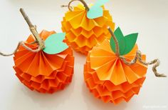 Learn how to make 3d pumpkins with this project from DIY Inspired