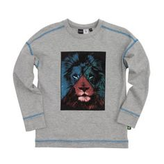 Molo Rey Long Sleeve T-shirt - Grey Melange
