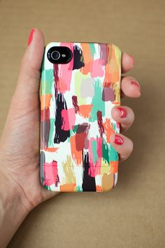 Accessories for iPhone 5/5s or 4/4s abstract by khristianahowell