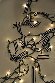 tie ribbon around christmas lights before you start wrapping the tree