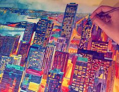 """Check out new work on my @Behance portfolio: """"watercolors of modern cities vol1"""" http://be.net/gallery/53451829/watercolors-of-modern-cities-vol1"""