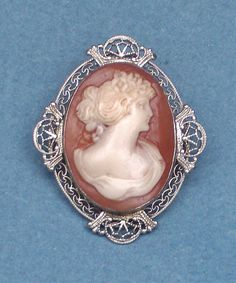 SALE Antique Victorian Beautiful Hand Carved Shell Cameo by emenow