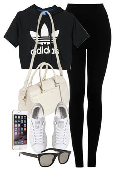 """""""Style #10032"""" by vany-alvarado ❤ liked on Polyvore featuring Topshop, adidas and Yves Saint Laurent"""