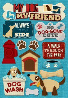 Karen Foster Design - Cardstock Stickers - My Dog My Friend
