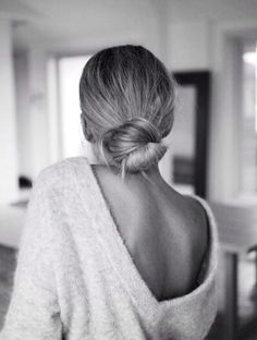 Understated bun. Perfectly full with HALOCOUTURE Ponytail http://www.halocouture.com