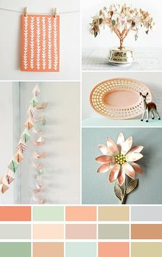 Peachy keen colour palette. #inspiration #colour