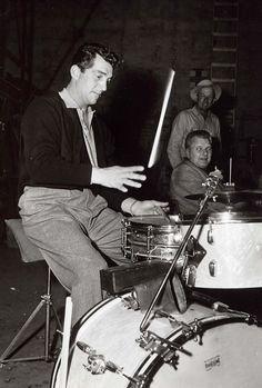 Dean Martin during rehearsal, 1956.