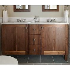 Poplin™ 60 Vanity Base Only with Furniture Legs, 2 Doors and 3 Drawers Bathroom Vanities Without Tops, Rustic Bathroom Vanities, Wood Bathroom, Single Bathroom Vanity, Bathroom Furniture, Master Bathroom, Lake Bathroom, Shaker Furniture, Bath Vanities