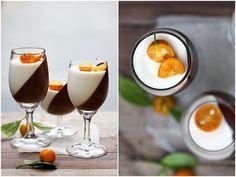 dark chocolate and orange panna cotta
