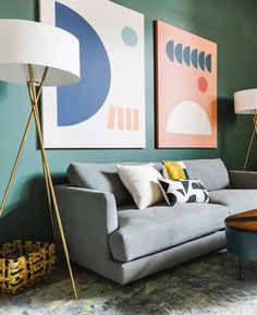 See how Queer Eye's design expert Bobby Berk made over a hero's home with a whimsical use of color, smart storage solutions and modern West Elm furniture and accessories. Curtains For Sale, Cozy Corner, Rug Sale, Kitchen Wall Art, Office Interiors, West Elm, Cozy House, Home Living Room, Room Decor