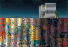 Jeffrey Smart. ( 1988 ). Australian urban landscape.