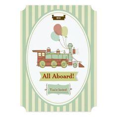Train Birthday Party Invitations Fun Party Train 10th Birthday Invitation
