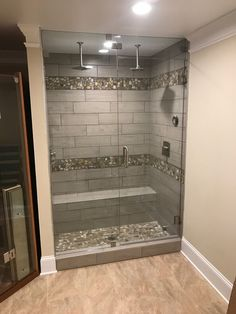 Double rainfall shower heads! Great job Team GREEN! #TeamGREEN #GreenBasementsAndRemodeling #Bathroom #Remodeling #Roswellremodel #AtlantaConstruction #SteamShowerEnclosure