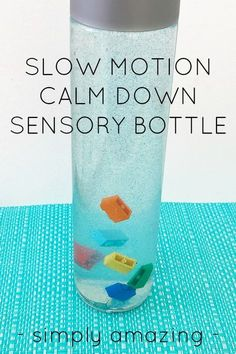 This is the most MESMERIZING sensory bottle you have ever seen! Fabulous for calming big emotions with children of all ages, you just have to check it out.