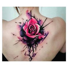 900+ Awesome Watercolor Tattoos for Men and Women Cool Watercolor... ❤ liked on Polyvore featuring men's fashion
