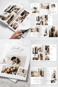 Wedding Photo Books, Wedding Photo Albums, Wedding Photography Pricing, Wedding Photography Packages, Wedding Planner Binder, Wedding Album Design, Wedding Brochure, Buch Design, Brochures