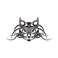 Tribal Cat Face Temporary Tattoo