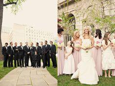 Dessy long twist dress in suede rose - photo by Alixann Loosle Utah