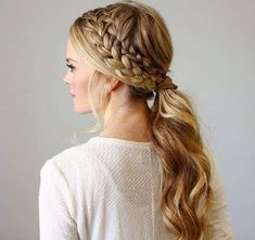 Double Side Braid for Ponytail