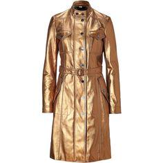 BURBERRY LONDON Vintage Gold Lambskin Worsham Coat ($3,210) ❤ liked on Polyvore