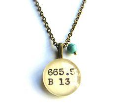 Turquoise Howlite Tiny Teal Bead Dewey Decimal Dark by writtennerd, $25.00