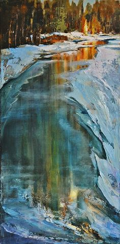Path to My Light by Linda Wilder Acrylic ~ 30 x 15