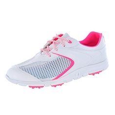 9c8059c116cb FootJoy Women s SuperLites White Pink Sneaker 7 M Womens Golf Shoes