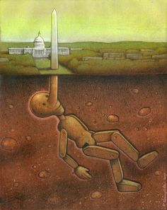 Thought Provoking Paintings By Pawel Kuczynski 35  Pinocchio US GOV