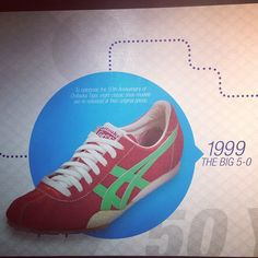In 1999, to celebrate the 50th anniversary of Onitsuka Tiger, eight classic shoe models are re-released at their original prices.