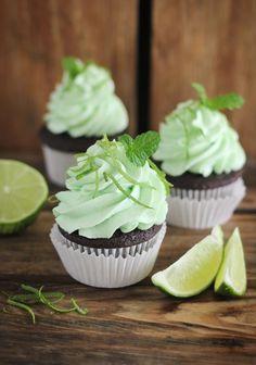 Chocolate Mojito Cupcakes