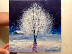 Christmas Gift Winter Tree Painting by VladimirNezdiymynoga