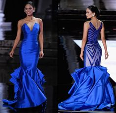 Miss Universe 2015 Pia Wurtzbach iconic blue gown she wore when she was crowned Miss Universe has been offered an eight-digit sum of money.