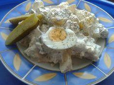 Önmagában is finom, de salátaként vagy köretként is tálalható, jó étvágyat Hozzávalók : 1,5 kg burgonya 5 db csemegeuborka 5 db főtt tojás 1 db vöröshagyma 2 pohár (2 x 150g) tejföl majonéz só-, bors ízlés szerint 1 csokor … Egy kattintás ide a folytatáshoz.... → Naan, Camembert Cheese, Recipes, Hungarian Food, Drink, Diet, Beverage, Hungarian Cuisine