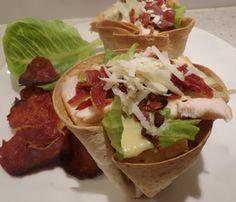 caesar,salad,in,a,Tortilla,basket