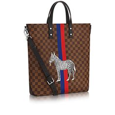 LOUIS VUITTON ATLAS TOTE. #louisvuitton #bags #canvas #tote #leather #lining #metallic #shoulder bags #hand bags #