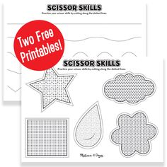 Scissor Skills Activities for Kids - 2 Printables Kids Educational Crafts, Educational Websites For Kids, Science Crafts, Science For Kids, Activities For Kids, Scissor Skills, Scissor Practice, Learning Shapes, Learning Spanish