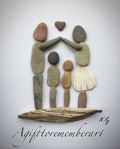 """Shelter of our love"" #agifttorememberart #pebbleart #family #love #makersgonnamake #etsy #etsuseller #australia #driftwood #shell #familyoffour #craft #handmade #gift #frame #madebyme #art #artwork #unique #roomdecor #interiordesign #instaart #instaphoto #kids #mothersday #housewarminggift #blessed #stones #nature #recycledart"