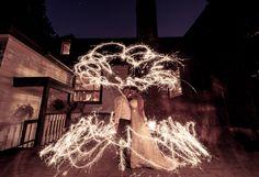 Wedding Photos with sparklers