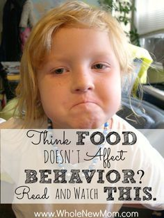 Many say Food and Behavior are connected. Others say it's nonsense--food has nothing to do with behavior. What does the evidence show?