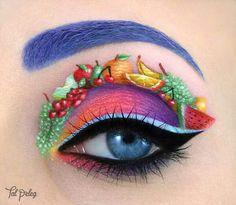 Fruit inspired eye makeup! #makeup #fruit