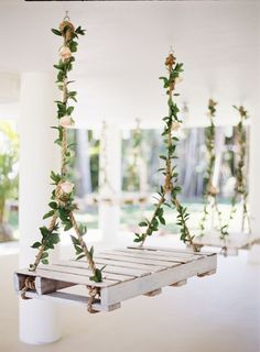 pretty floral swings for magical fairy tale weddings 2017