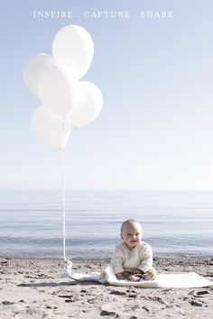 Baby beach- Maybe write 6 months on a balloon? @Bridget Bateman