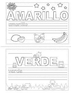 Colors in Spanish ~ Los Colores ~ Mini Booklet Coloring This Mini Coloring Booklet is designed for children who are learning the color names in Spanish. Shape Tracing Worksheets, Worksheets For Kids, Spanish Worksheets, Spanish Names, Easel Activities, Student Data, Tracing Letters, Teacher Newsletter, Color Names
