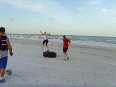 Beach Boot Camp in Siesta Key, Florida. Paradise!