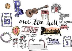 """One Tree Hill icons"" Stickers by amandaspac 