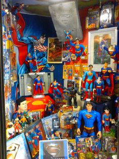 #Superman #Toy & #Collectibles exhibit. On display at the J.Preston National Toy Museum. Watch the video of this collection on youtube at Gifted monkey TV !