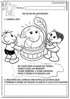 Atividade Meio Ambiente Corte e Recorte Educativo | Ideia Criativa - Gi Barbosa Educação Infantil                                                                                                                                                                                 Mais